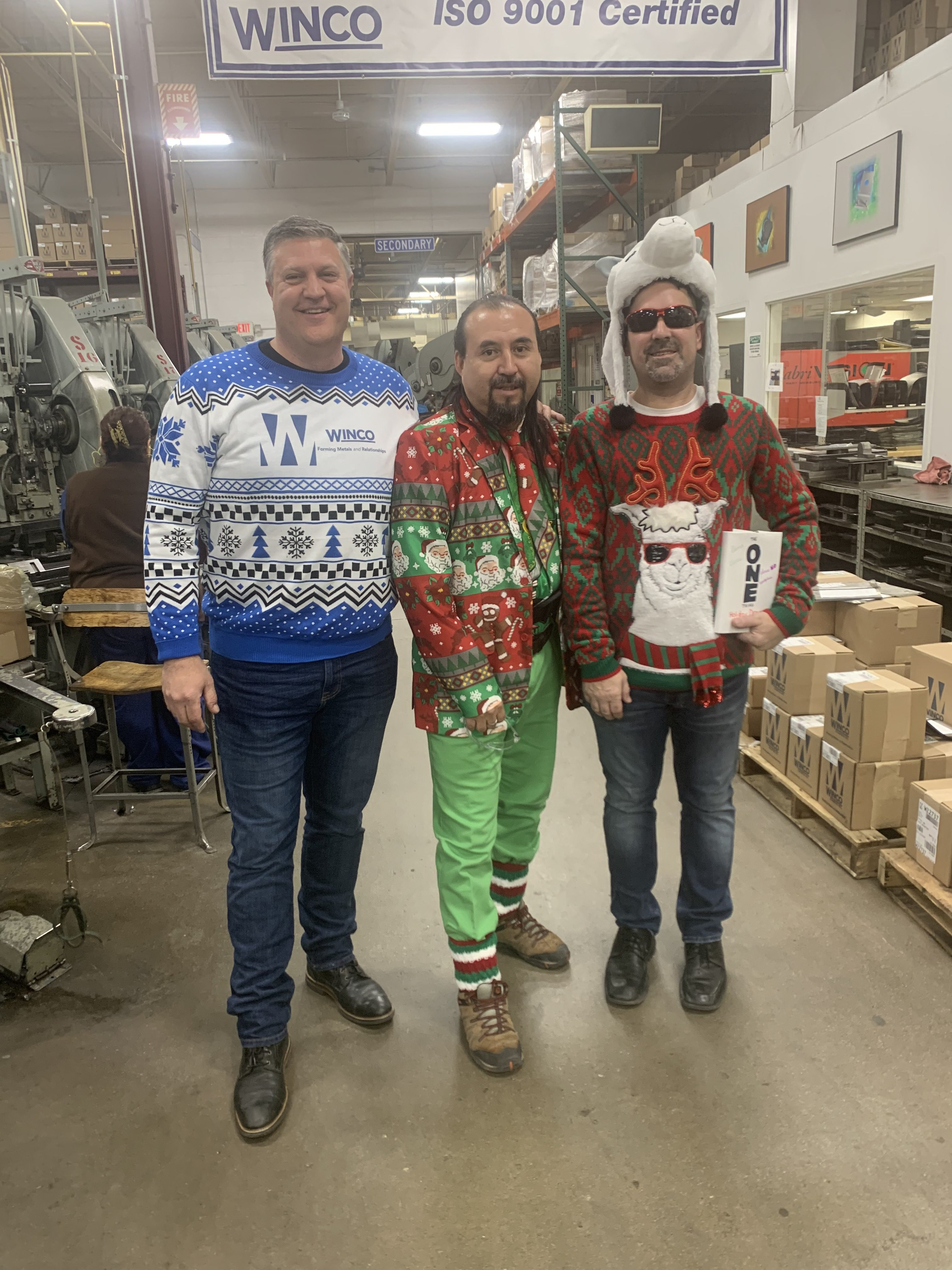 2019 Winco Stamping Ugly Christmas Sweater Day